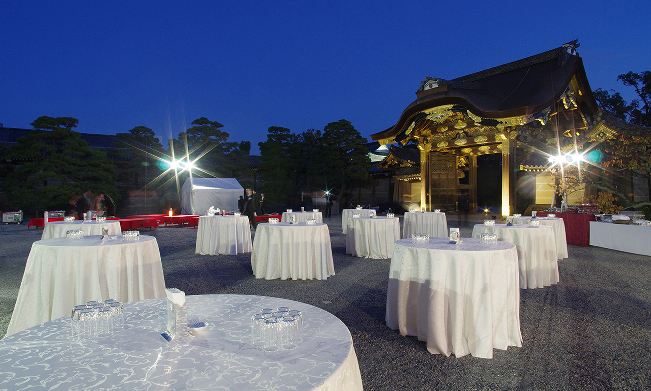 Private party at Nijo Castle
